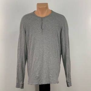 Vince Lightweight Grey Henley Button Up Shirt